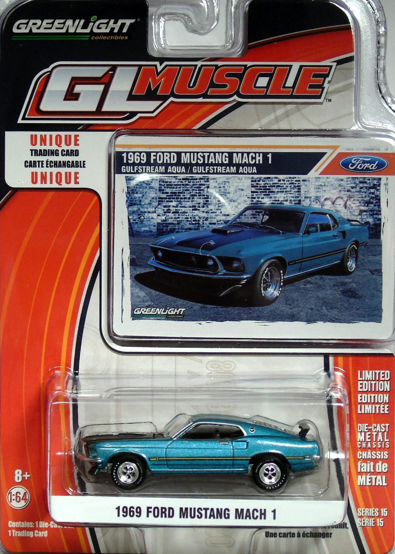 2016 greenlight collectibles gl muscle series 15 1969 ford mustang mach 1